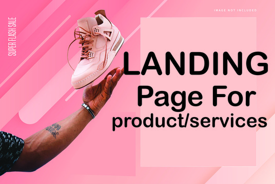 I will Design Landing Page For Product Or Services