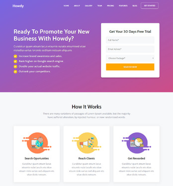 Design Landing Page For Product Or Services