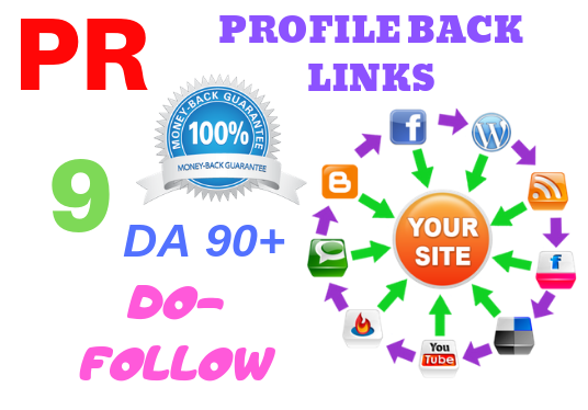 I will Manually Create 50 Pr9 Da 90 Dofollow Profile Backlinks