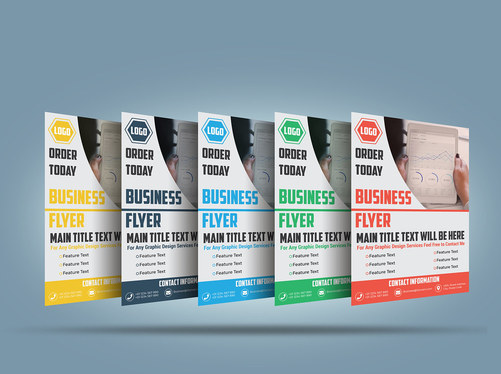 design print ready business or corporate flyer