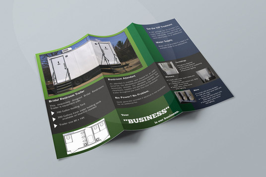 design print ready brochure or handout