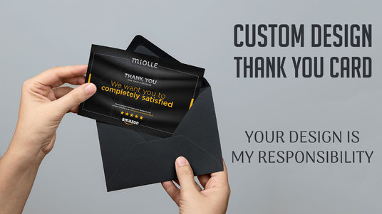 I will Design Thank You Card, Product Insert, Postcard, Packaging Insert