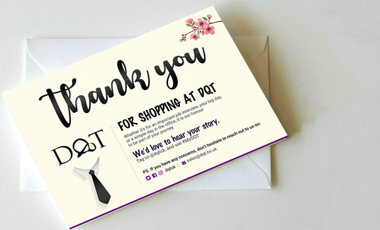 Design Thank You Card, Product Insert, Postcard, Packaging Insert