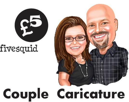 I will Create Romantic Couple Caricature