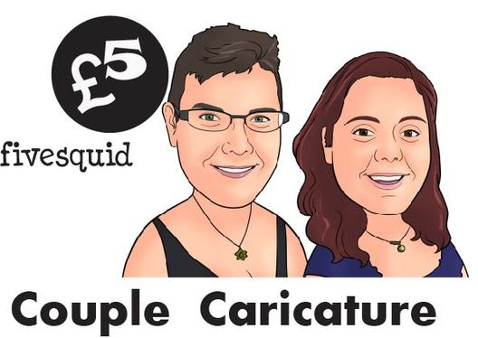 Create Romantic Couple Caricature