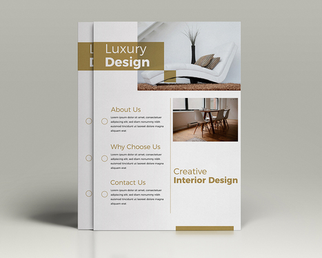 design minimalist and modern flyer