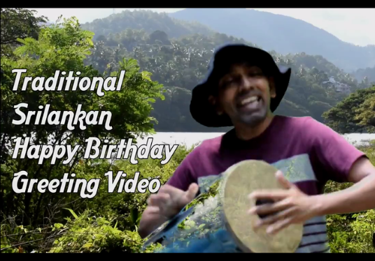 send you traditional drumming happy birthday greeting video in 24 hours