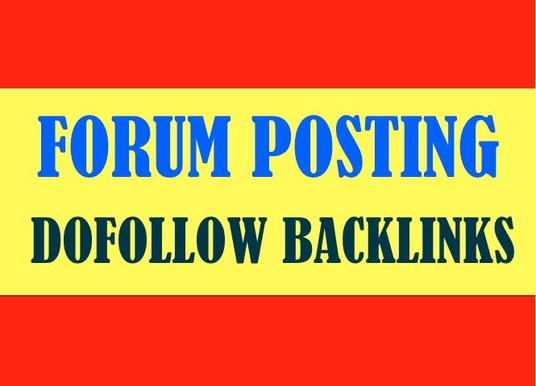 I will create 20 niche relevant dofollow forum posting backlinks