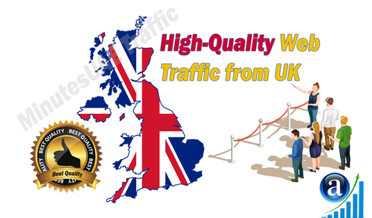 I will send British web visitors, real targeted high-quality web traffic from UK