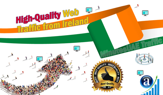 I will send Irish web visitors, real targeted high-quality web traffic from Ireland