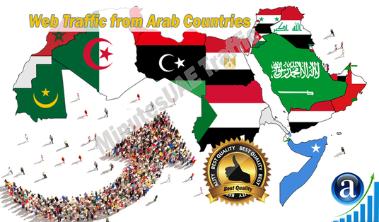 I will send Arab web visitors, real targeted high-quality web traffic from Arab countries
