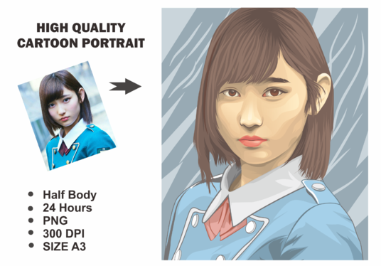 I will draw your photo into cartoon portrait