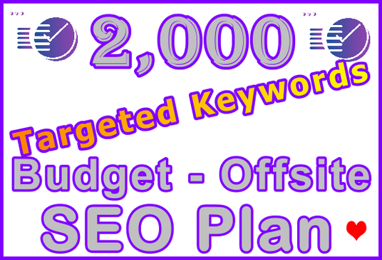 I will Target 2,000 Keywords with Poweful Budget Offsite SEO Setup