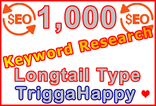 I will Research 1,000 Longtail Type Keywords