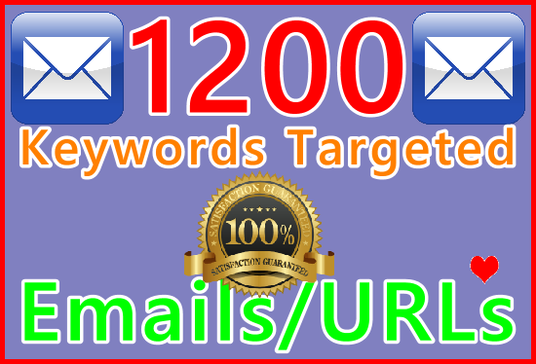 I will Research Over 1,200 Keyword Targeted URLs from GSA Website Contact Tools