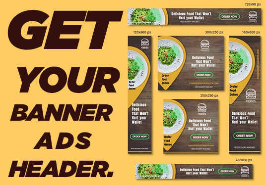 I will create awesome looking banner, Header or ads for your website or blogs