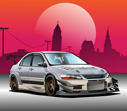 Make Awesome Vector Illustration Of Your Car