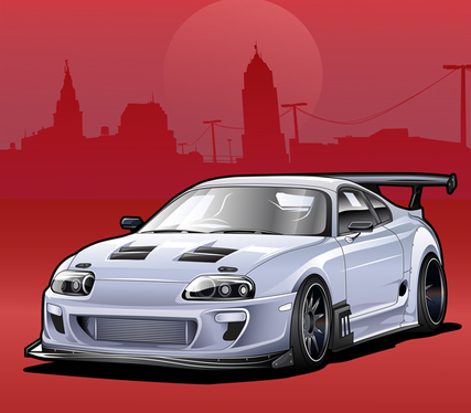 cccccc-Make Awesome Vector Illustration Of Your Car