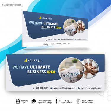 Design web banner,  facebook page cover and youtube channel art