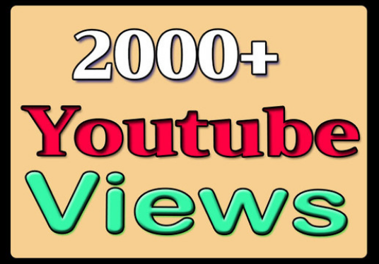 I will give you 2000+ youtube views