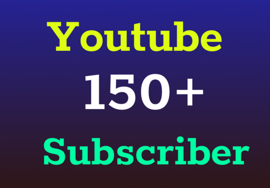 I will Provide 150+ Real YouTube Subscribers