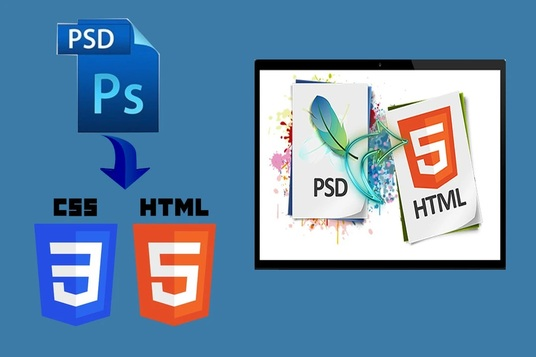 I will convert psd to html,bootstrap.