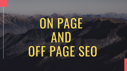 do On-Page SEO And Off-Page SEO for WordPress website