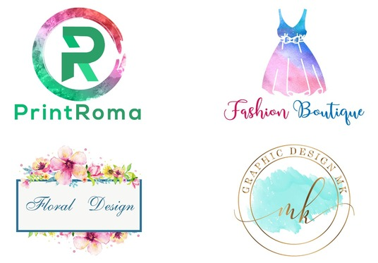I will Design Watercolor Logo With Free Transparent Background