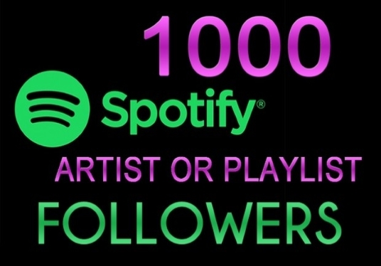 I will Provide 1000+ Spotify followers To Your Spotify Playlist Or Artist