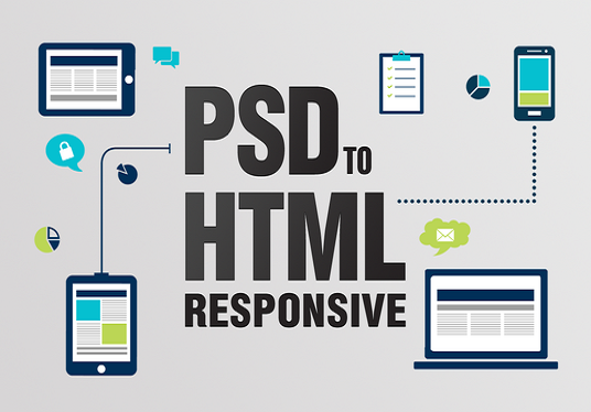I will design responsive website  PSD to HTML in Bootstrap 4