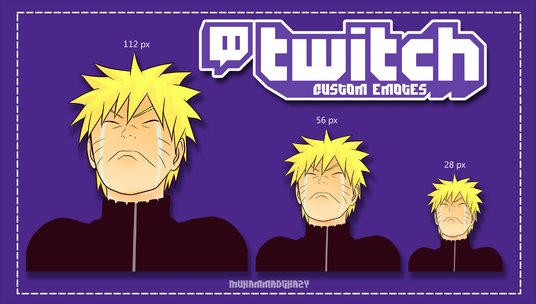I will draw custom twitch emotes or sub badges