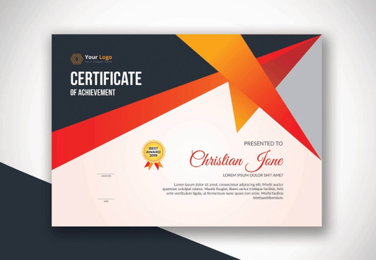 I will design a certificate for you