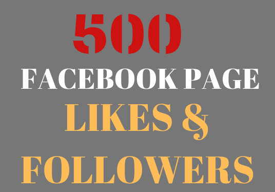 I will give you 500 Facebook page likes and followers