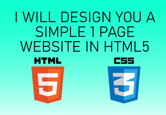 I will design you a basic 1 page website