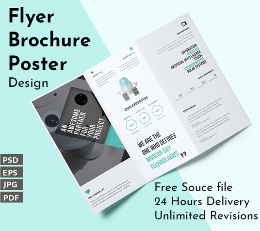 I will design professional Brochure, Poster Or Flyer