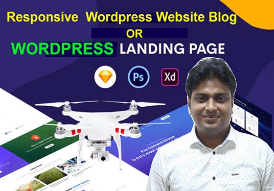 I will do wordpress website blog, landing page or squeeze page