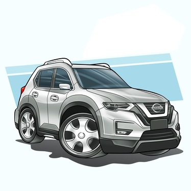 draw your car vehicle into funny and simple caricature cartoon style