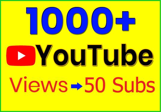 I will Add 1000+ Organic YouTube Targeted Views