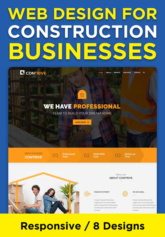 I will create a Website for your Construction business