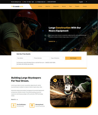 create a Website for your Construction business