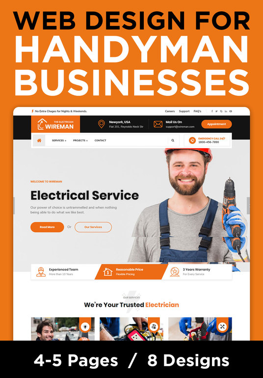 I will create a Website for your Handyman business