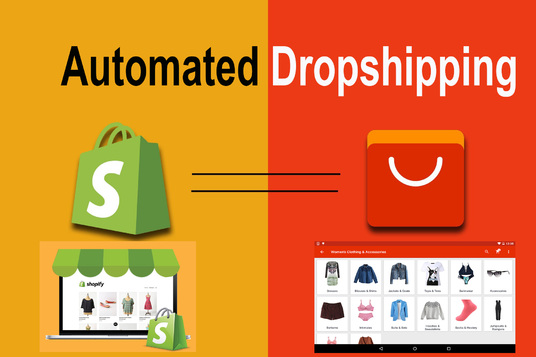 I will build your automated aliexpress to shopify dropshipping store