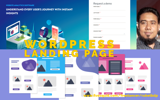 I will Design Your Landing page, Using Elementor Pro or Thrieve Architech Page Builder