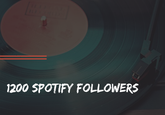 I will provide you with 1200+ real spotify followers