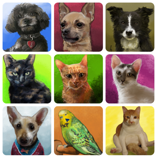 I will digitally paint your pets, all fully personalised