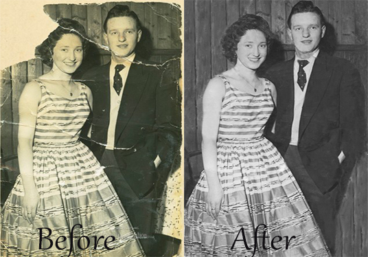 I will  professionally restore retouch or colorize photos