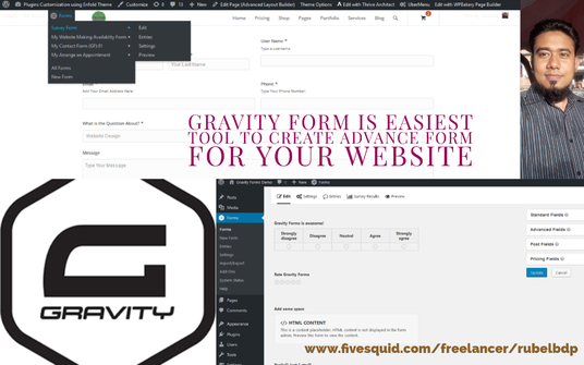 I will Design any kind of Website Form Using Gravity Form