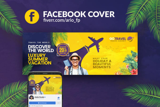 I will create a professional facebook cover banner design