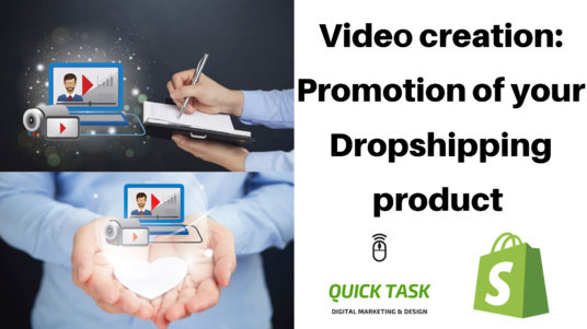 I will create a promotional video for your dropshipping product