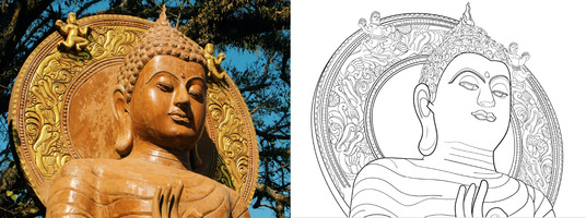 Convert your Image to Line Art Illustration